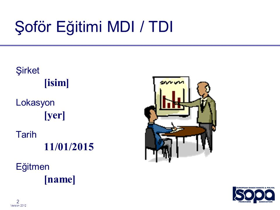 Şoför Eğitimi MDI / TDI [isim] [yer] 08/04/2017 [name] Şirket Lokasyon